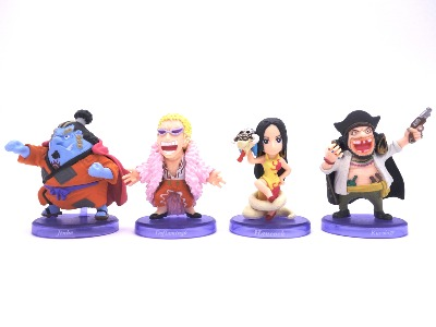 "Lot de 4 mini figurines - One Piece - "" Shichibukai """