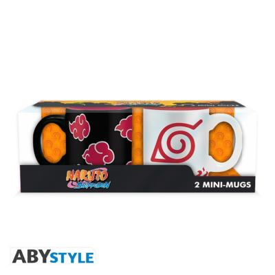 Set de 2 mini mugs - Naruto - Akatsuki & Hokage - 110 ml