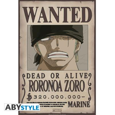 Poster - One Piece - Zoro Wanted - 52x35 cm