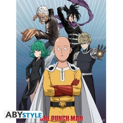 Poster - One Punch Man - groupe - 52X38 cm