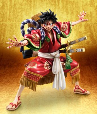 Statuette - One Piece - Excellent Model P.O.P. - [Megahouse] - Monkey D. Luffy Kabuki Edition 21 cm