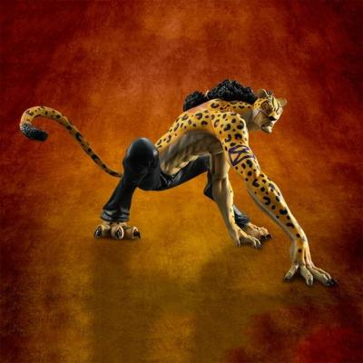 Statuette - One Piece - Excellent Model P.O.P. - MAS - Megahouse - Rob Lucci Leopard Ver. - 12 cm