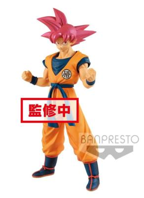 Figurine - Dragon Ball Super - statuette PVC - Chokoku Buyuden Super Saiyan God Son Goku - 22 cm