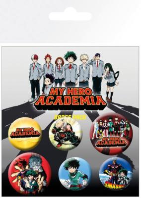 My Hero Academia pack 6 badges Mix