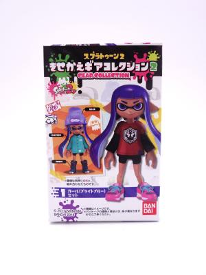 Figurine - Splatoon 2 - Gear Collection - Inkling Girl - Bright Blue