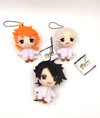 Lot de 3 peluches / Strap - The Promised Neverland - 13 cm