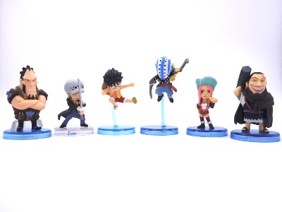 "Lot de 6 mini figurines - One Piece - "" Pire Génération """