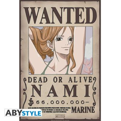 Poster - One Piece - Nami Wanted - 52x35 cm
