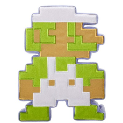 Peluche / Coussin - World Of Nintendo - Luigi - 8 bits