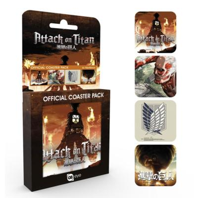 Dessous de verre - Attack On Titan - Set de 4