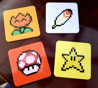 Super Mario World pack 4 sous-verres Power-Ups Lootcrate Exclusive