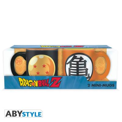 Set de 2 mini mugs 110ml - Dragon Ball Z - Boule de cristal & Kame