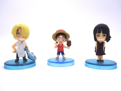 Lot de 3 mini figurines - One Piece - Enfants