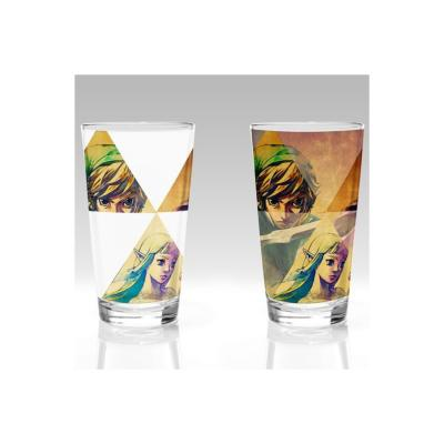 Verre - Zelda - Hyrule - Thermosensible - 450 ml