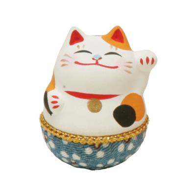 Mini Maneki Neko en céramique - MIKE - 4 cm