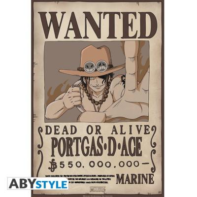 Poster - One Piece - Ace Wanted - 52x35 cm