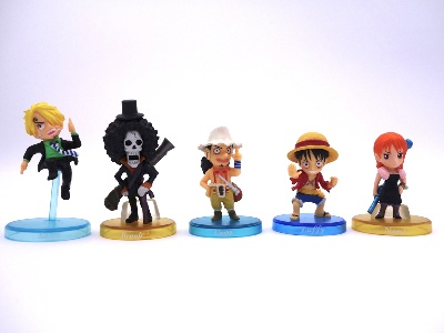 Lot de 5 mini figurines - One Piece - équipage Luffy