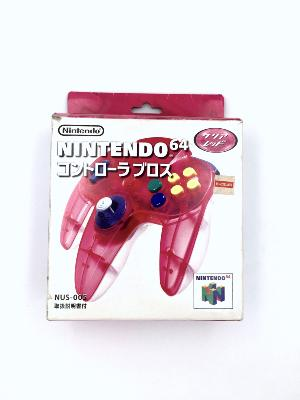 Manette - Nintendo 64 - Clear Red - import JAP