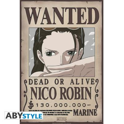 Poster - One Piece - Robin Wanted - 52x35 cm
