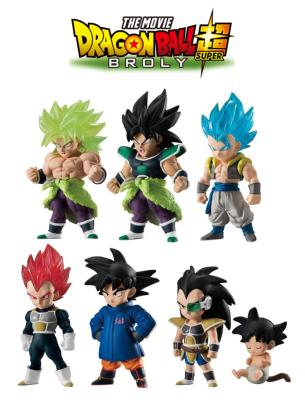 Figurine - Dragon Ball Adverge 9 - Movie Special - Lot de 6 mini figurines - 8 cm