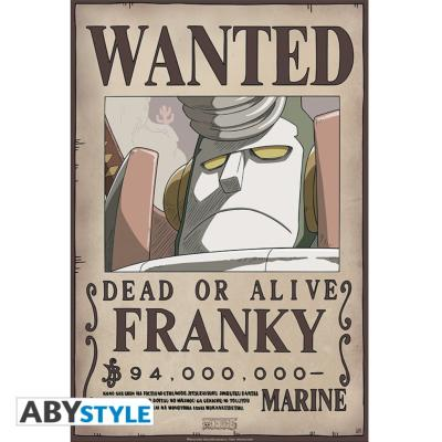 Poster - One Piece - Franky Wanted - 52x35 cm
