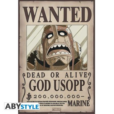 Poster - One Piece - God Ussop Wanted - 52x35 cm