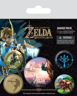 The Legend of Zelda Breath of the Wild pack 5 badges The Climb