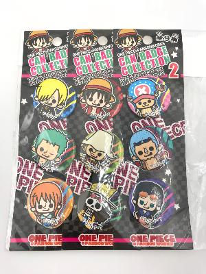 Lot de 9 badges One Piece  - Can Badge Collection